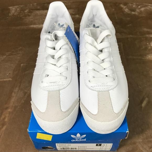 7f02294f5039 Adidas Samoa Womans 6.5 mens white leather NWT M44